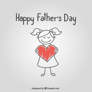 Sketchy Fathers Day Card Free Vector