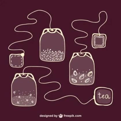 Sketchy Tea Bags Free Vector