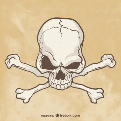 Skull and Bones Drawing Free Vector