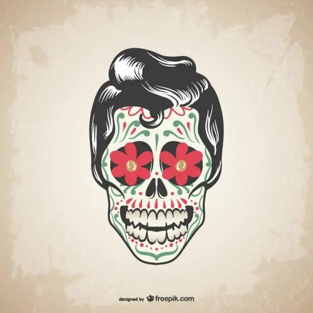 Skull Tattoo Design Free Vector