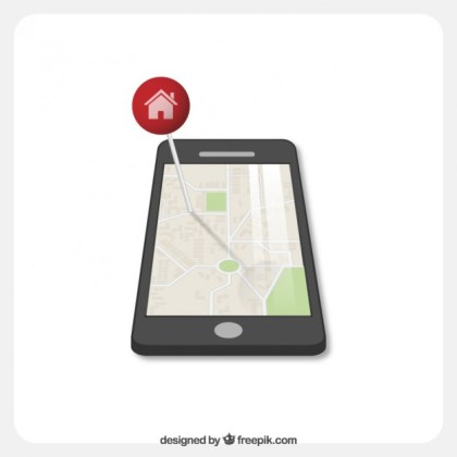 Smart Phone Navigation Free Vector