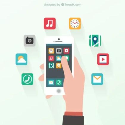 Smartphone in Flat Design Free Vector