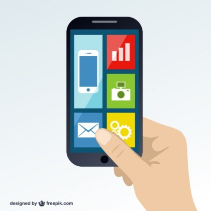 Smartphone in Hand Free Vector