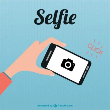 Smartphone Selfie Flat Illustration Free Vector