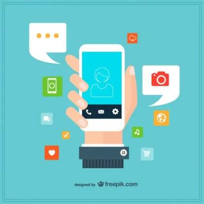 Smartphone Template Design Free Vector