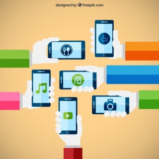 Smartphones Technology Concept Free Vector
