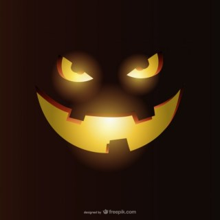 Smiling Pumpkin for Halloween Free Vector