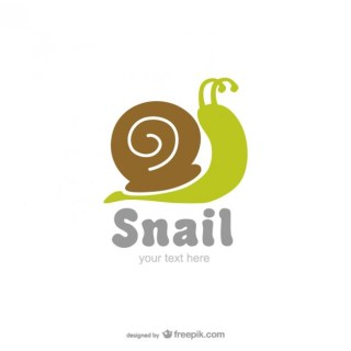 Snail Logo Free Vector