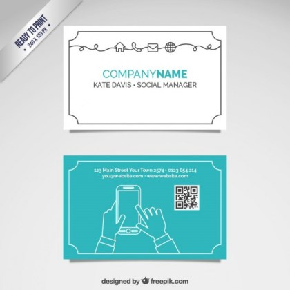 Social Manager Card Free Vector