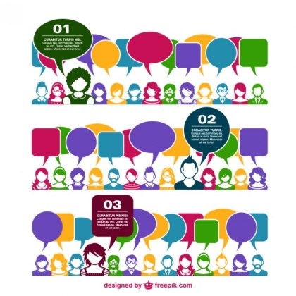 Social Media Chat Template Free Vector