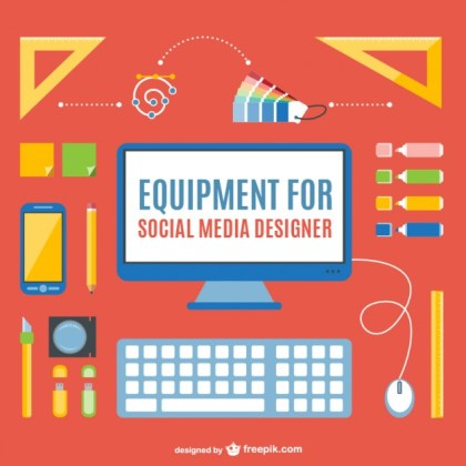 Social Media Designer Pack Free Vector