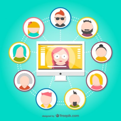 Social Network Avatars Free Vector