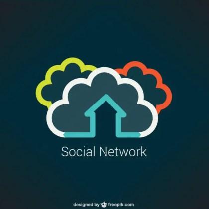 Social Network Concept Free Vector