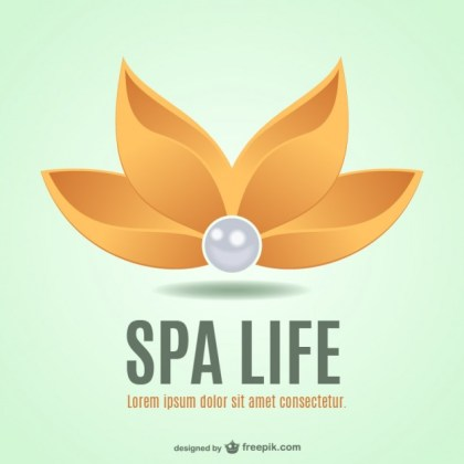 Spa Flower Logo Free Vector