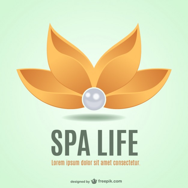 Spa Flower Logo Free Vector