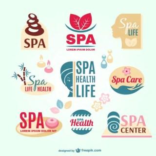 Spa Resort Logos Free Vector