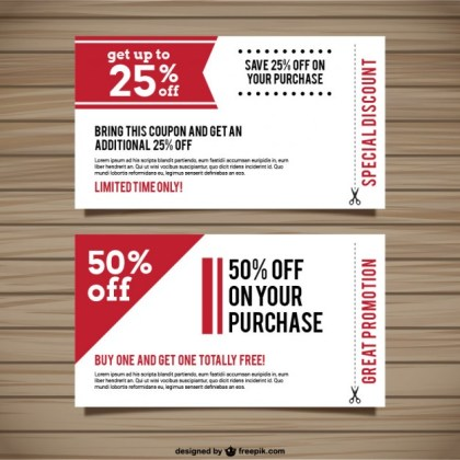 Special Discount Coupons Free Vector