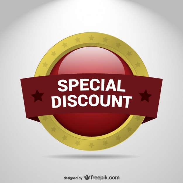Special Discount Label Free Vector