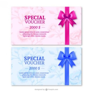 Special Gift Cards with Ribbons Free Vector