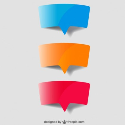 Speech Bubble Paper Design Free Vector