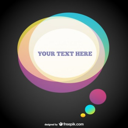 Speech Bubble Template Free Vector