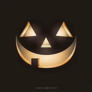 Spooky Pumpkin Face Free Vector
