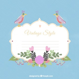 Spring Label in Vintage Style Free Vector
