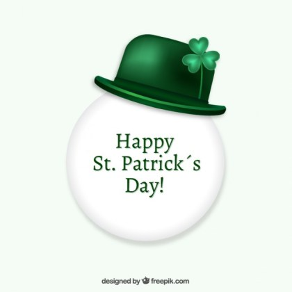 St Patricks Day Bubble with a Green Hat Free Vector