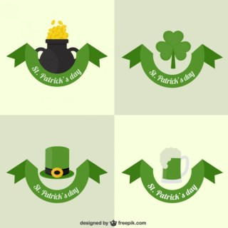 St Patricks Day Card Collection Free Vector