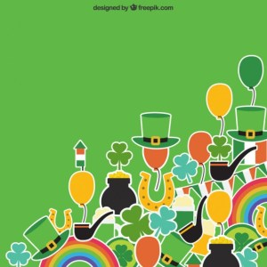 St Patricks Day Charms Free Vector