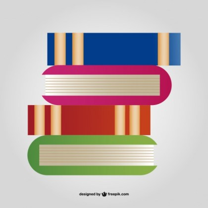 Stack of Books Free Vector