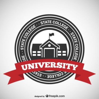 State College Badge Free Vector