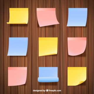 Sticky Notes Collection Free Vector