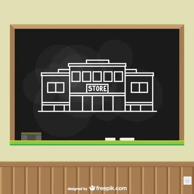 Store Chalkboard Art Free Vector