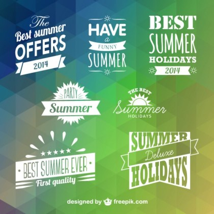 Summer Badges Free Vector