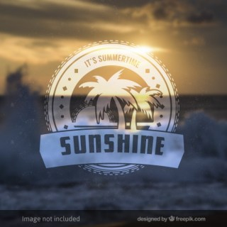 Sunshine Badge Free Vector
