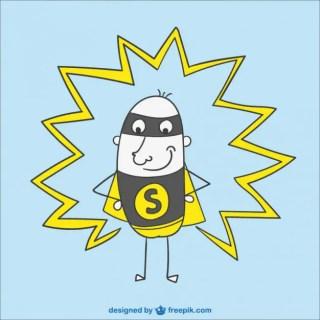 Superhero Cartoon Free Vector