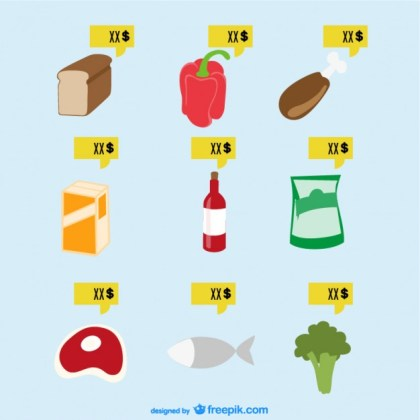 Supermarket Food Free Vector