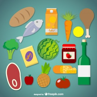 Supermarket Food Graphics Free Vector