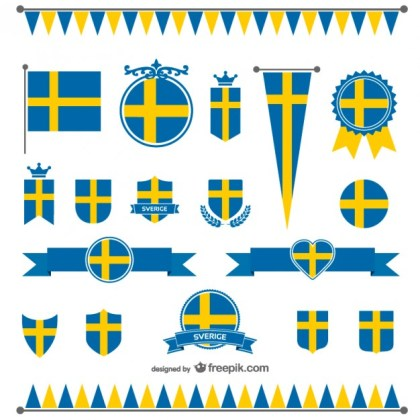 Sweden Flag Graphics Free Vector