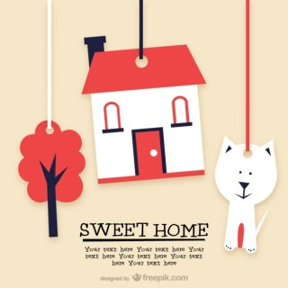 Sweet Home Template Free Vector
