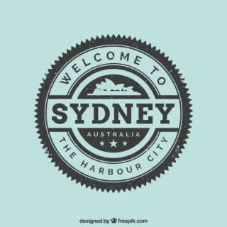 Sydney Stamp Free Vector