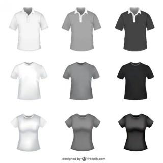 T-Shirt Templates Free Vector