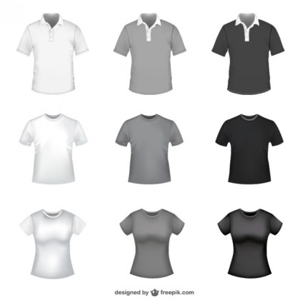 T-Shirt Templates Free Vector