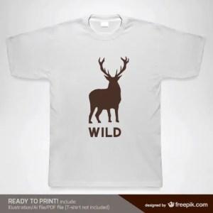 T-Shirt Wild Design Template Free Vector