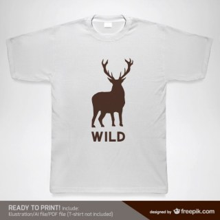 T-Shirt Wild Design Template Free Vector