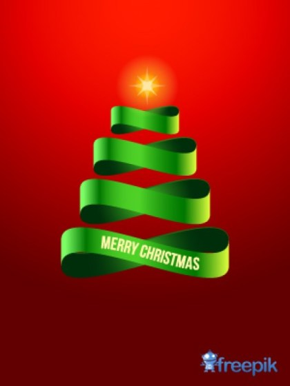 Tapes Doing a Christmas Tree Free Vector