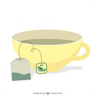 Tea Bag and Cup Free Vector
