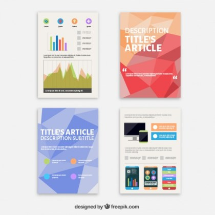 Technology Flyers Collection Free Vector