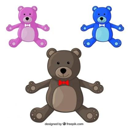 Teddy Bears Pack Free Vector